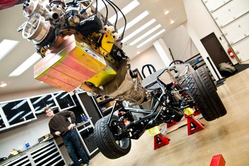 Factory Five Boss 347 Engine Install